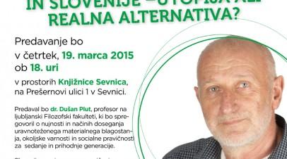 Trajnostni razvoj sveta in Slovenije – Utopija ali realna alternativa